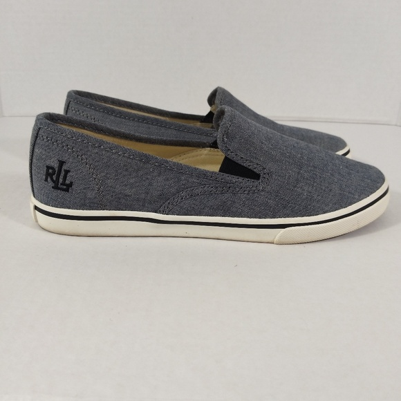 Ralph Lauren Shoes - Ralph Lauren Gray Canvas Slip-on Sneaker
